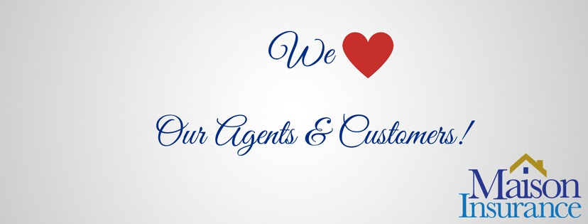 We love our Agents and Customers - Facebook cover